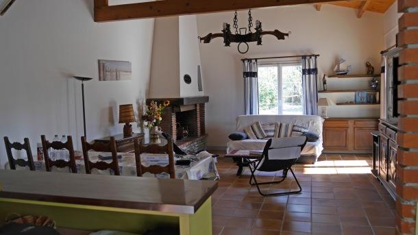 villa et gite -ile de ré - salon salle à manger